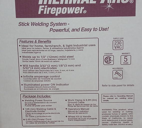 Thermal Arc Firepower 1443-0414 AC Stick Welder FP-235 Arc Welder 230VAC - - Amazon.com