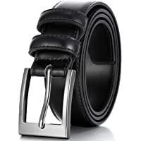 c909943de281 Marino s Men Genuine Leather Dress Belt with Single Prong Buckle.