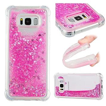 Oukety Funda Samsung S8 Plus Carcasa Purpurina, Galaxy S8 ...