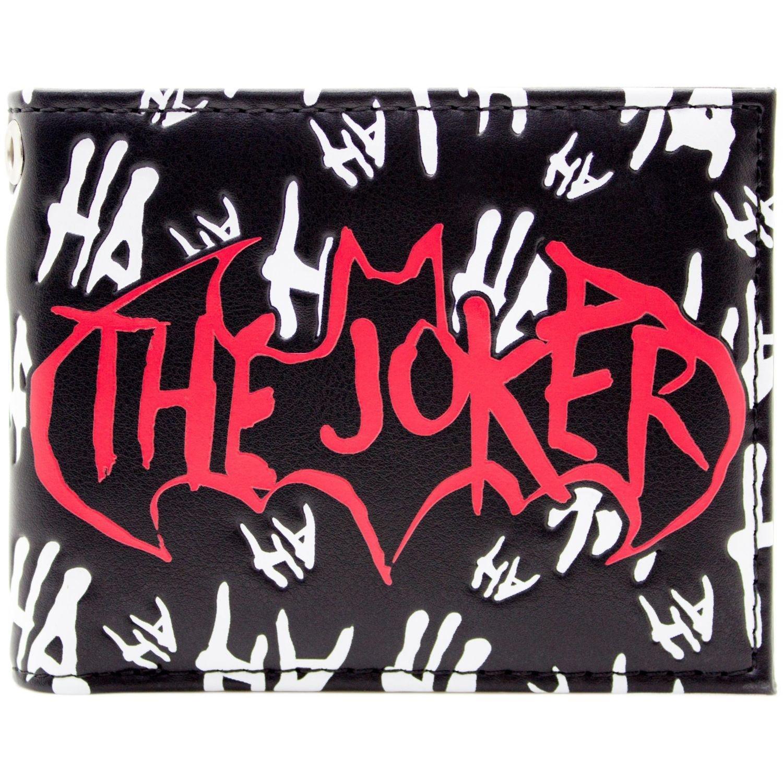 Cartera de DC Batman El Joker loco Jaja Negro 29704