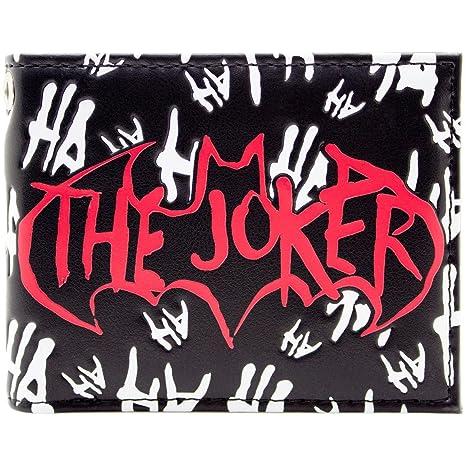 Cartera de DC Batman El Joker loco Jaja Negro