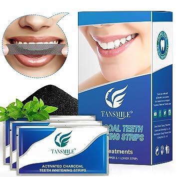 Amazon Com Charcoal Teeth Whitening Strips Tansmile White