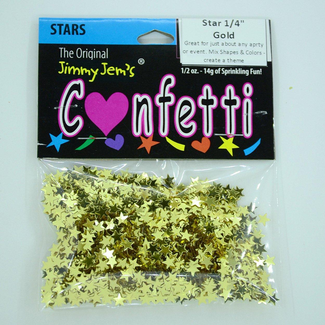 2 Half Oz Bags 8522 Confetti Star 1//4 Gold 1 oz