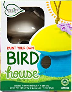 Creative Roots Paint Your Own Plaster Bird House by Horizon Group USA