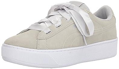 978ef559902b4c PUMA Unisex Vikky Platform Ribbon Jr Sneaker Gray Violet Silver