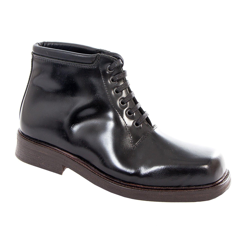 Stiefel Business & Braces - Oxford schwarz 4-Loch Schuh Ledersohle Business Stiefel Leder Made in EU e2b137
