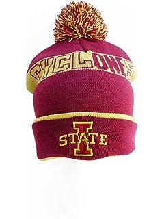 d2b05b9cd4a Amazon.com   Iowa State Cyclones Beanie - ISU Knitted Pom Beanie ...