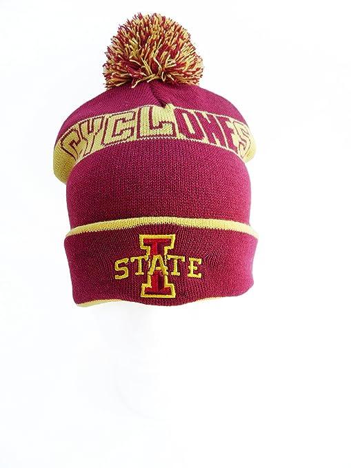 129986d7c33 Amazon.com   NCAA Iowa State Cyclones Men s Pom Pom Knit Hat ...