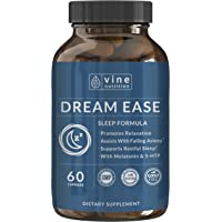 Dream Ease Natural Sleep Aid - Promotes Relaxation | Non-Habit Forming Sleeping Pills With 5-HTP, Melatonin, GABA And More Non-GMO For Men & Women - Vine Nutrition