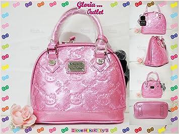 e3efbb48f Amazon.com : Loungefly Hello Kitty Pink Glitter Patent Embossed Mini Bag  Handbag Sanrio SANTB1275 : Beauty