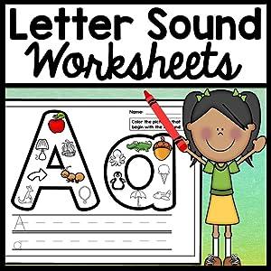 Letter Sound Worksheets {26 Letters A-Z!} {Alphabet Worksheets]