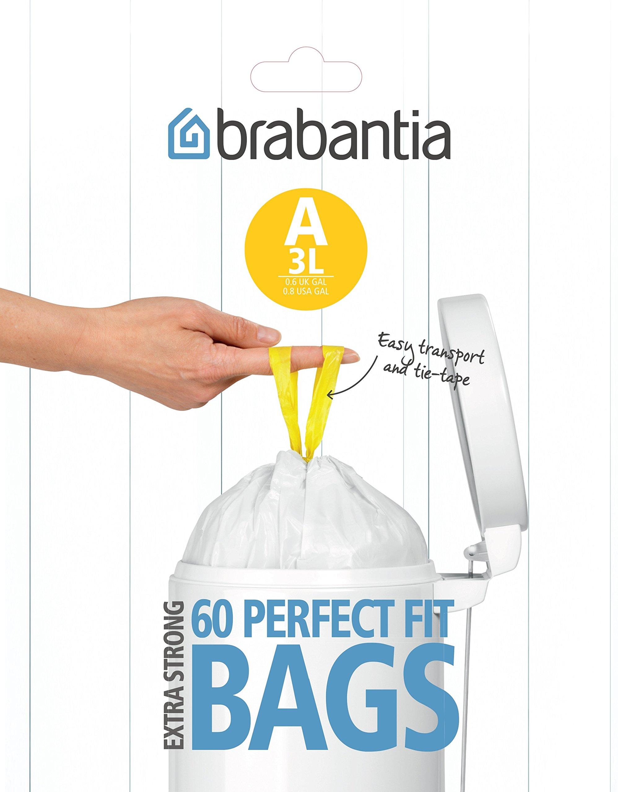 Brabantia 348983 - Bolsas basura, dispensador, 3 l, 60 unidades product image