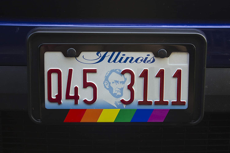 International Tie Flag-Themed License Plate Frame High Grade 304 Stainless Steel M Stripe