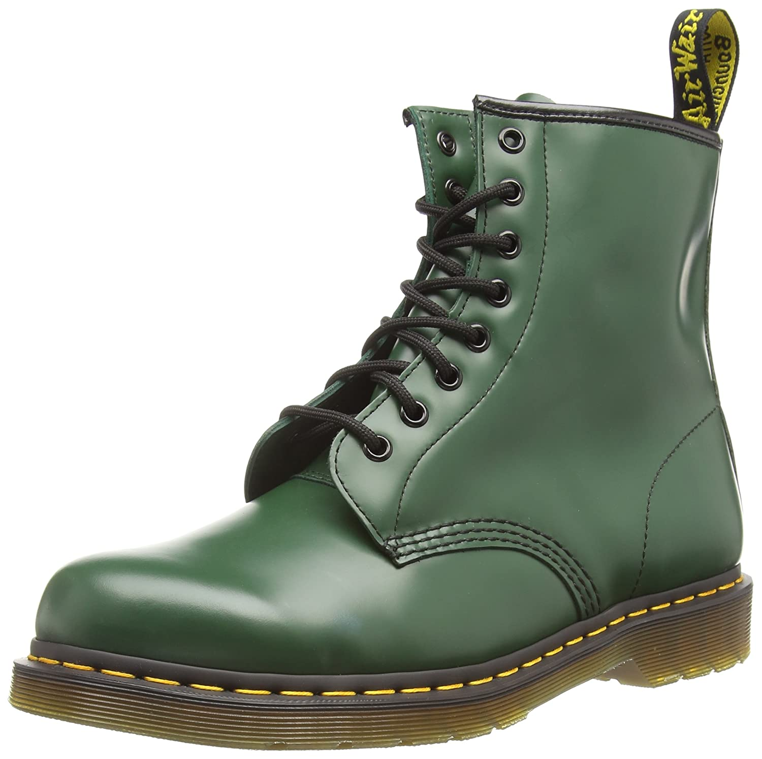 Dr. Martens Men's 1460 Classic Boot B00131Y9CA 7UK / 8 US Mens / 9 US Womens, 41 EU|Green Smooth Leather