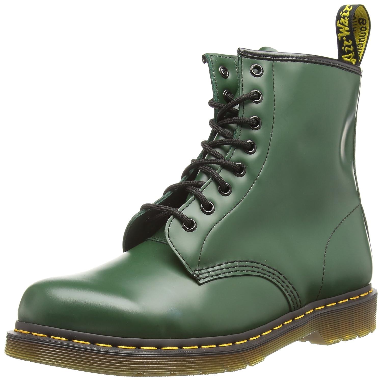 Dr. Martens Men's 1460 Classic Boot B001947EAU 5UK / 6 US Mens / 7 US Womens, 38 EU|Green Smooth Leather