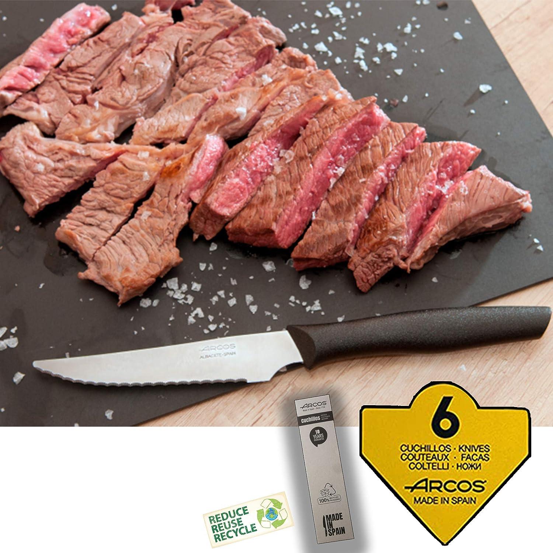 Arcos Juego de Cuchillos Carne Mango Polipropileno Negro Cuchillos Carne Arcos Eco