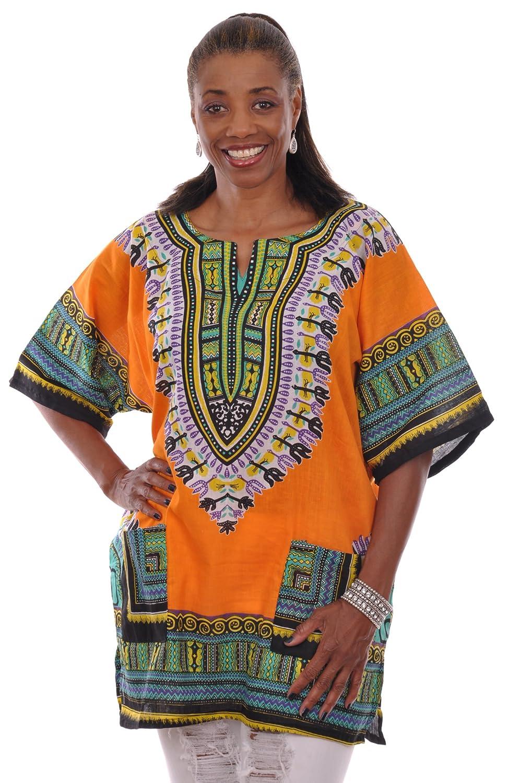 b19e1db5bb5 Top1  Dupsie s Bright Orange Traditional African Print Dashiki Shirt.  Wholesale ...