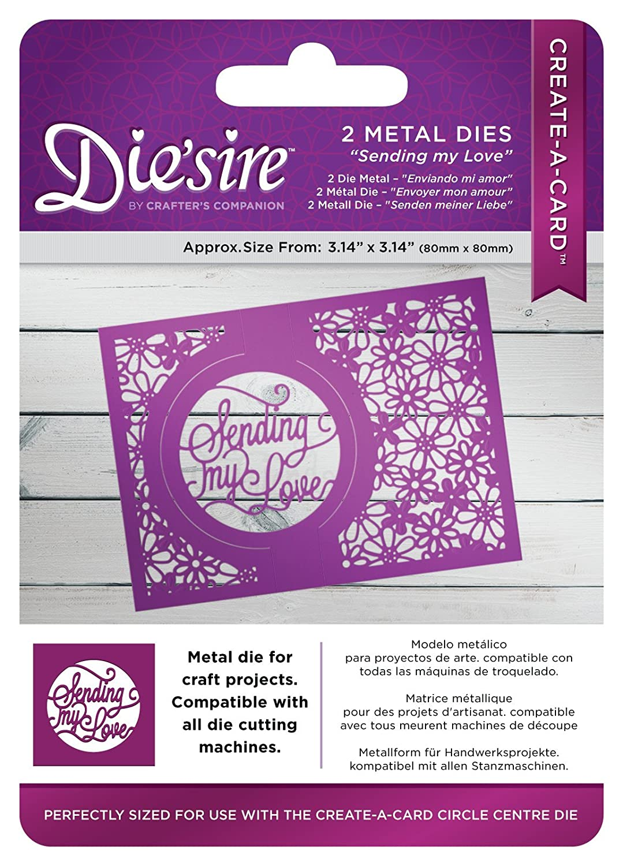 Die 'sire Sending My Love creare un kit di carta, argento Crafter' s Companion DS-CAD-SEND