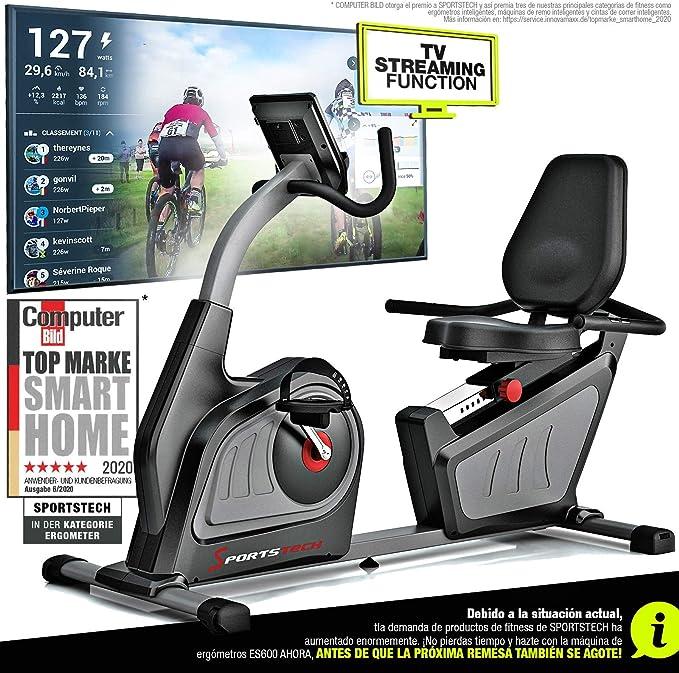 Sportstech ES600 Bicicleta estática reclinada Profesional -Marca ...