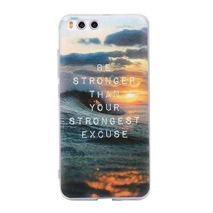 Ecoway TPU Funda Funda para Xiaomi Mi6, Ultra Delgado Carcasa Antideslizante Suave Parachoques Resistente a los arañazos Contraportada Funda de ...