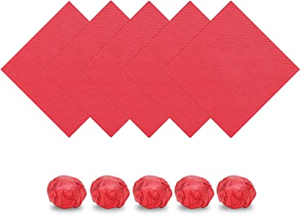 200 envoltorios de papel de aluminio rojo de 6 pulgadas x 6 ...