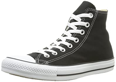 ea89814ff519 Image Unavailable. Image not available for. Colour  Converse Converse All  Star Hi Black Mono Canvas - 4.5 UK