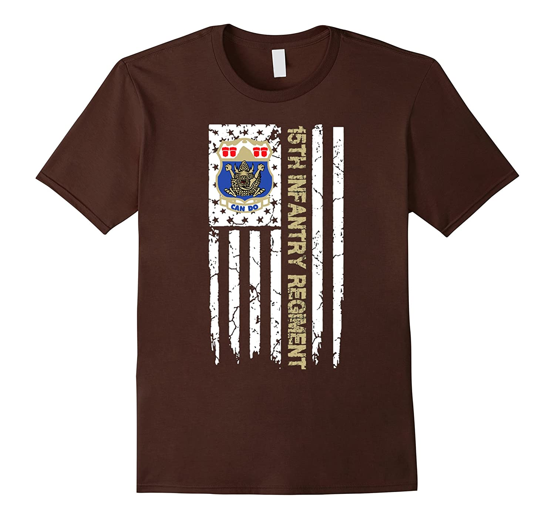 15th Infantry Regiment American Flag Tshirt-FL