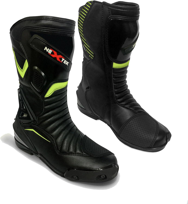 Bottes en cuir de moto de dames de Profirst Global Bottes de motard motard motard imperm/éables de bottes de motard pour les femmes EU 37 blanc 1