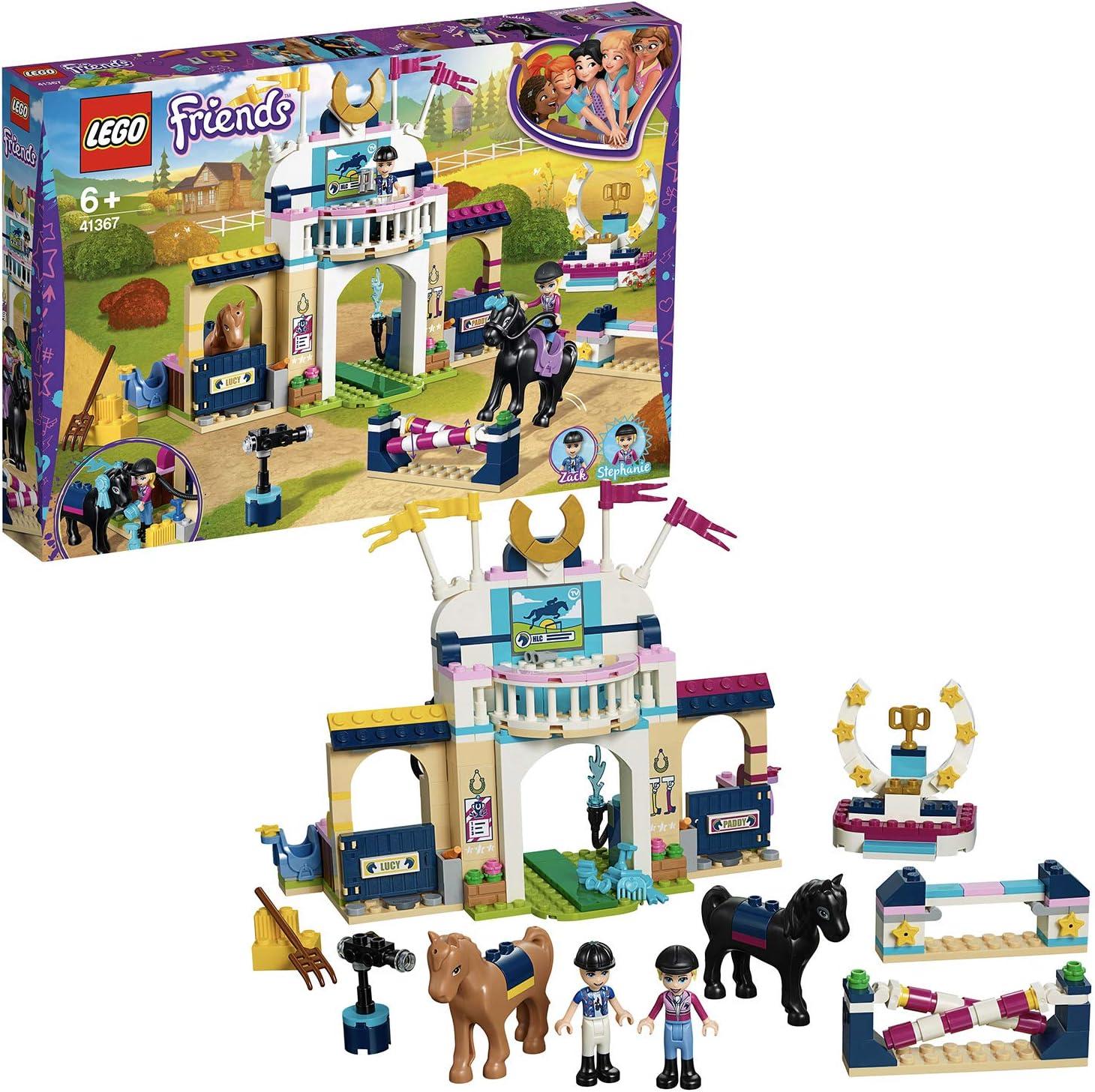 LEGO Friends - Concurso de Saltos de Stephanie, juguete creativo de torneo de caballos (41367)