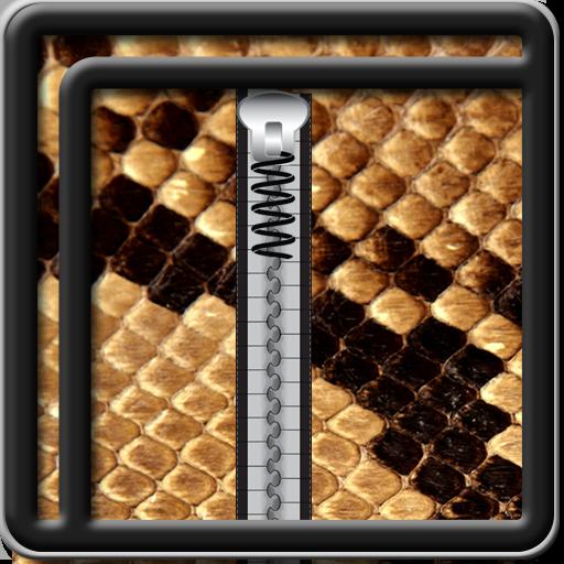 Zipper Lock Screen Animal Skin