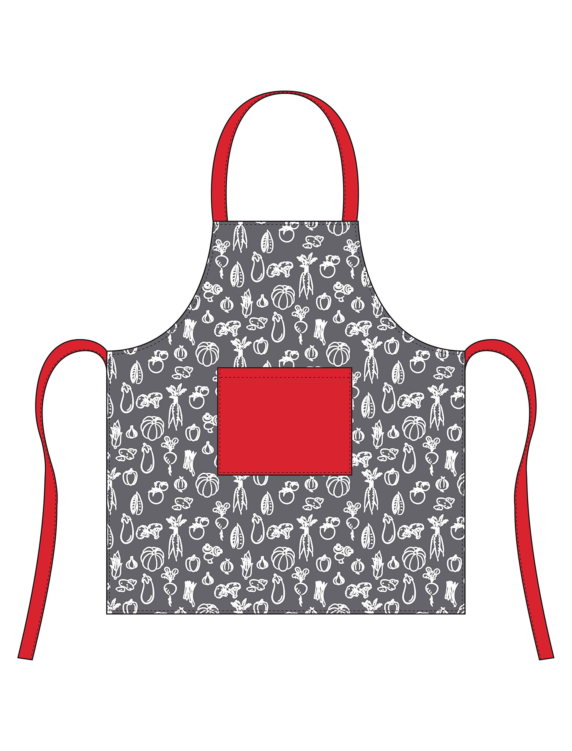 Hotel Veggies Apron, Grey