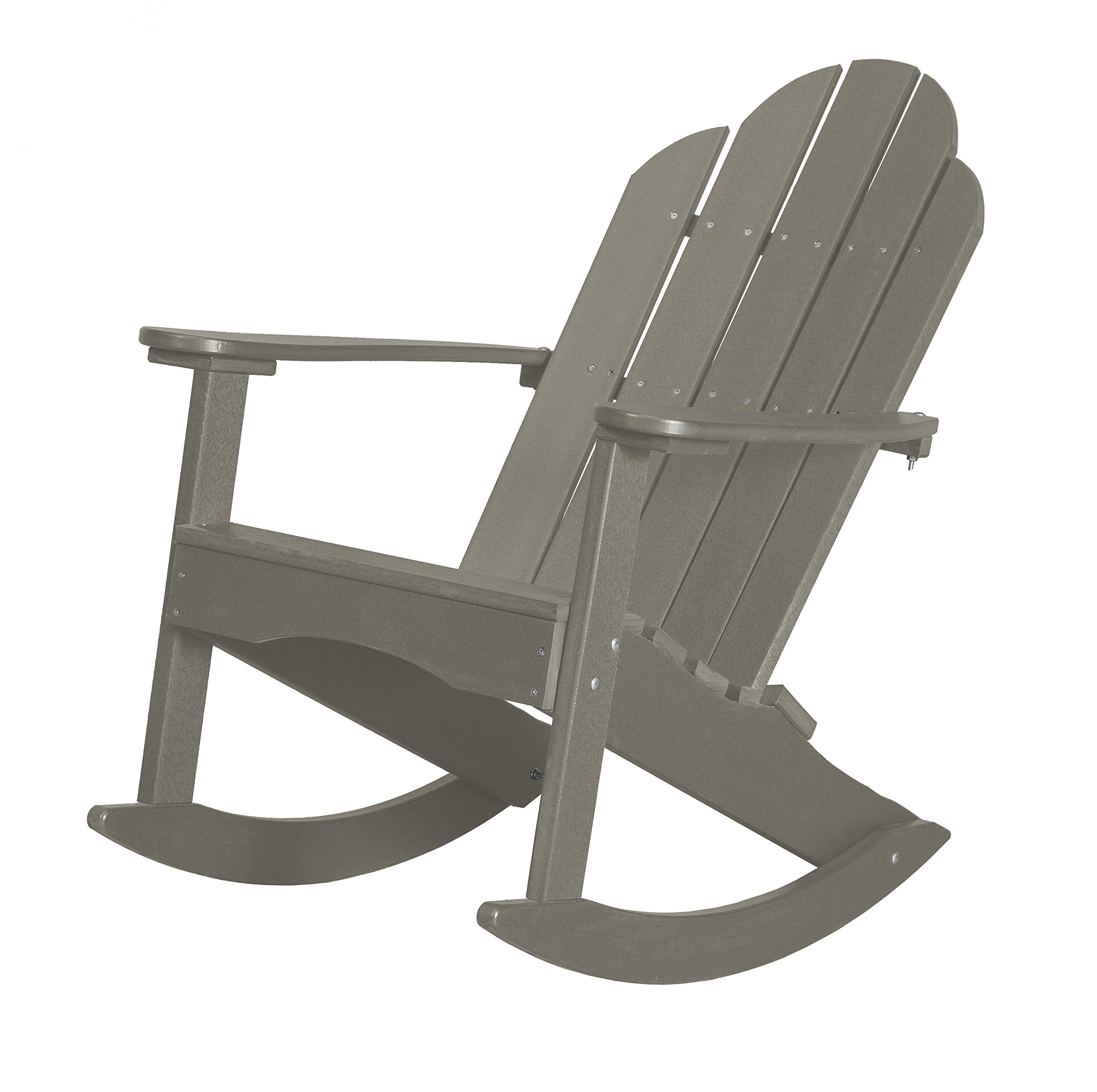 Little Cottage Company LCC-215 Classic Adirondack Rocker, Light Gray