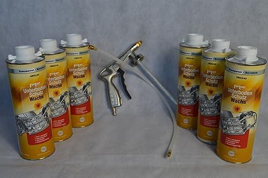 Set Fertan Druckluftpistole Und 6 X Ubs240 1l Unterbodenschutzwachs Pkw Lkw Unterboden Schutzwachs Sport Freizeit