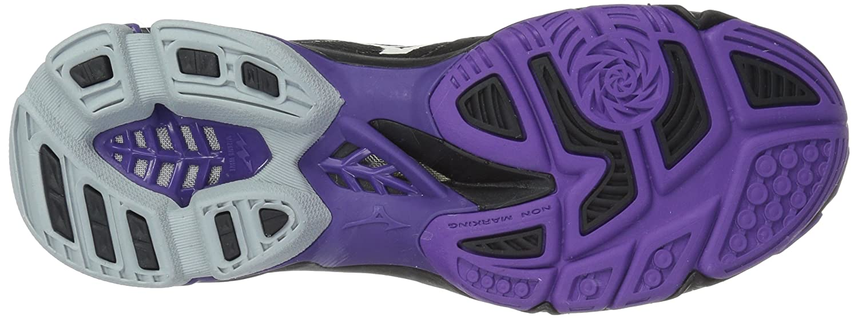 Mizuno Women's Wave Lightning Z4 Volleyball Shoe B07827RF89 Women's 9 B US|Black/Violet Purple