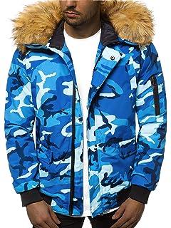 Herren Parka Alaska Winter Daunen Look Trisens Jacke Mantel QrtsdCh