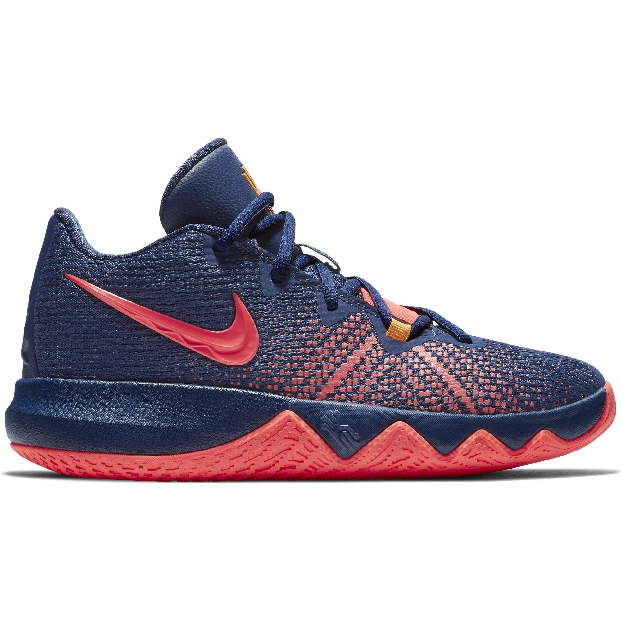 Nike Boy's Kyrie Flytrap Basketball Shoe Blue Void/Flash Crimson/Orange Peel Size 7 M US