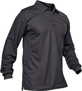 KEFITEVD Polos de Manga Larga de Secado rápido para Hombres Camisetas de Trabajo de Golf Camiseta de Pesca al Aire Libre: Amazon.es: Deportes y aire libre