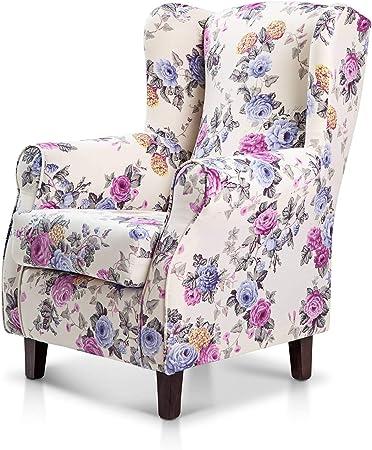 Sillón orejero tapizado, sillones individuales de una plaza para lactancia y relax,Butacas para el h