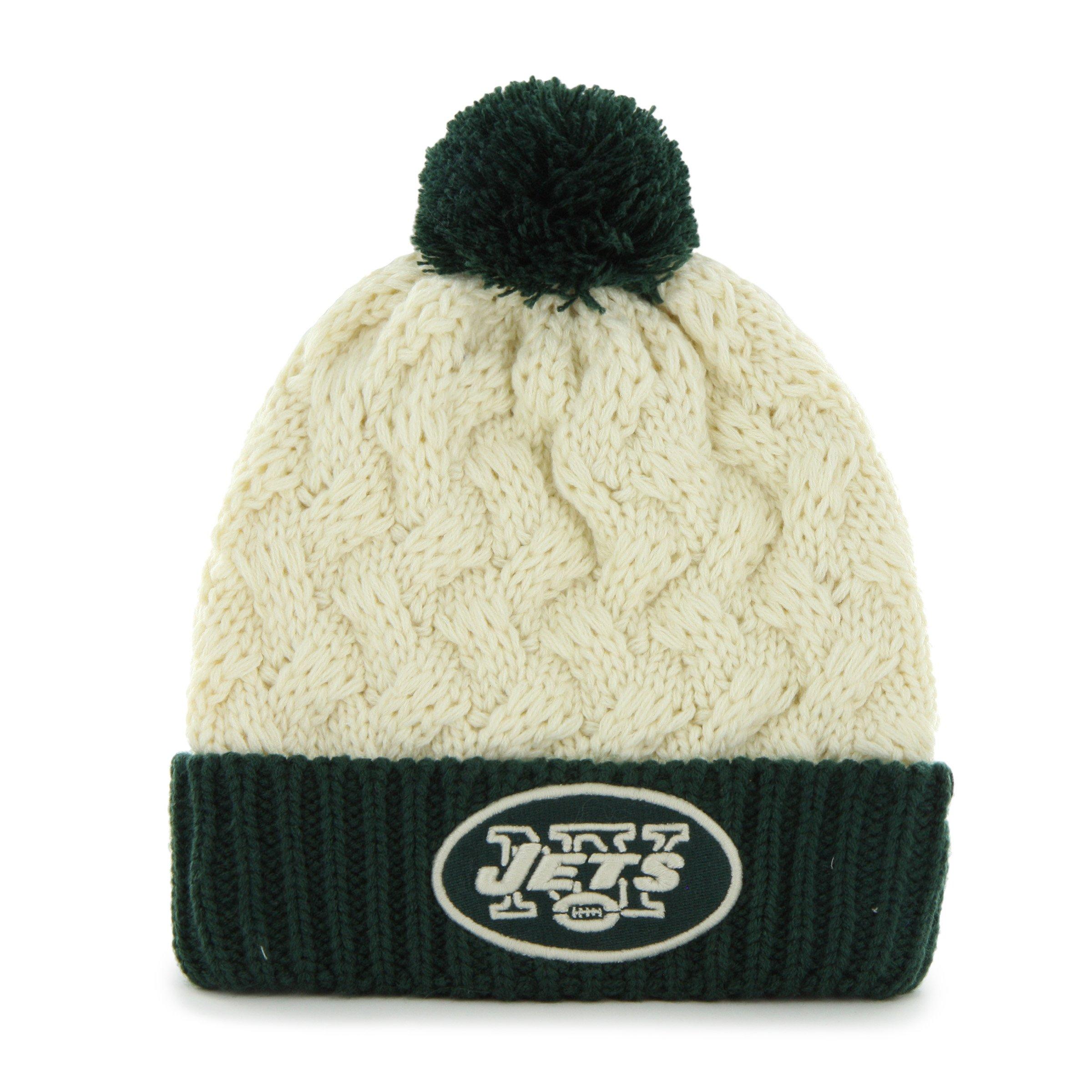 '47 NFL New York Jets Women's Matterhorn Cuff Knit Hat, One Size, Natural