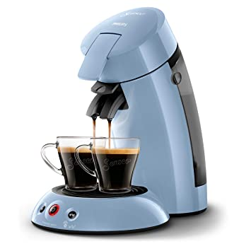 Senseo Original HD6554/71 - Cafetera (Independiente, Máquina de café en cápsulas, 0,7 L, Dosis de café, 1450 W, Azul): Amazon.es: Hogar