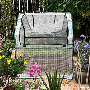 Reinforced Mini Cloche Greenhouse, Portable Green Hot House, for Grow Plants Seedlings Herbs Flowers, 909090cm