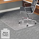 YOUKADA Office Chair Mat for Carpet, Carpet-Protector, Transparent Carpet Floor Mat with Lip for Carpet, 34 x 43 inch/86…