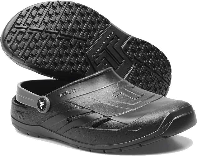 TELIC Dream Clog Lightweight Waterproof Comfort Recovery Midnight Black Gray