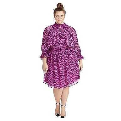 RACHEL Rachel Roy Women\'s Plus Size Lucky Leopard Dress