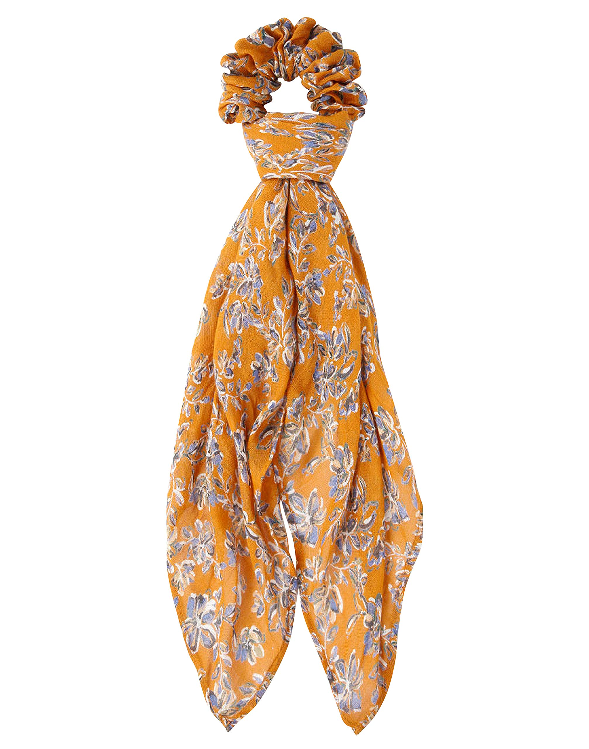 Chan Luu Painted Floral 2 in 1 Hair Scrunchie Bandana in Wheat by Chan Luu