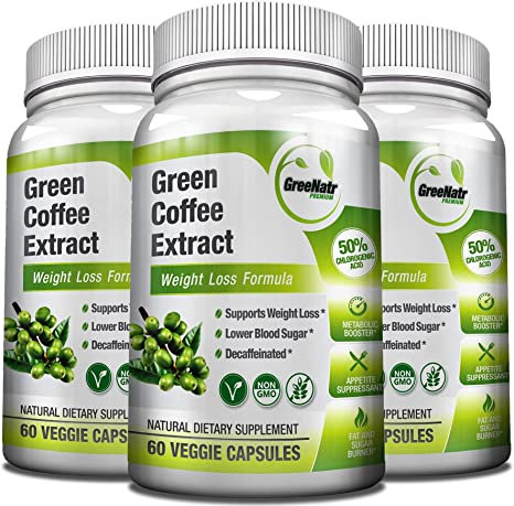 Amazon Com Green Coffee Bean Extract 1000 Mg 50 Chlorogenic