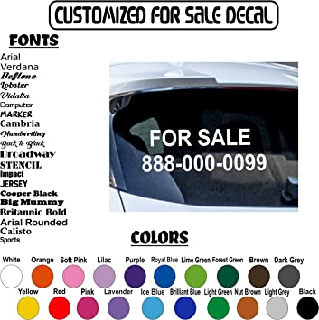 CUSTOM TEXT Personalised Name Lettering Funny Car Business Window Decal Sticker
