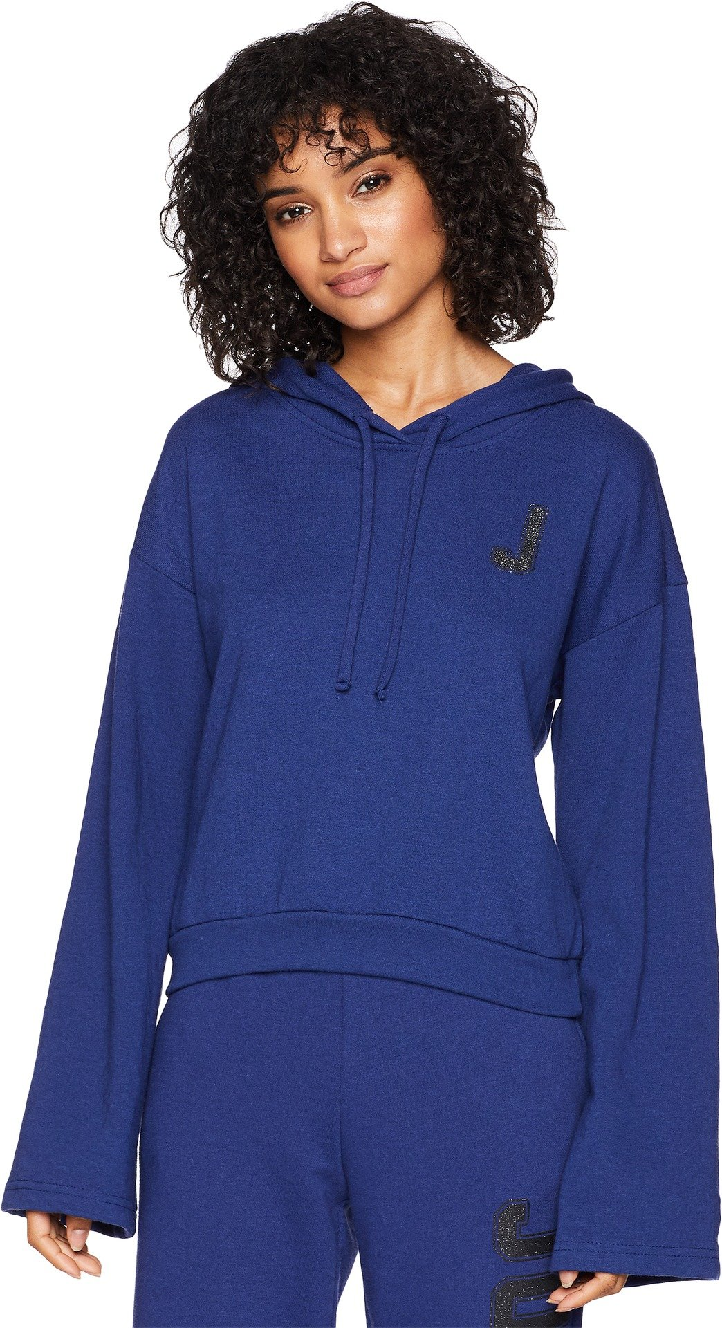 Juicy Couture Women's J Pullover Hoodie Twilight Blue Large