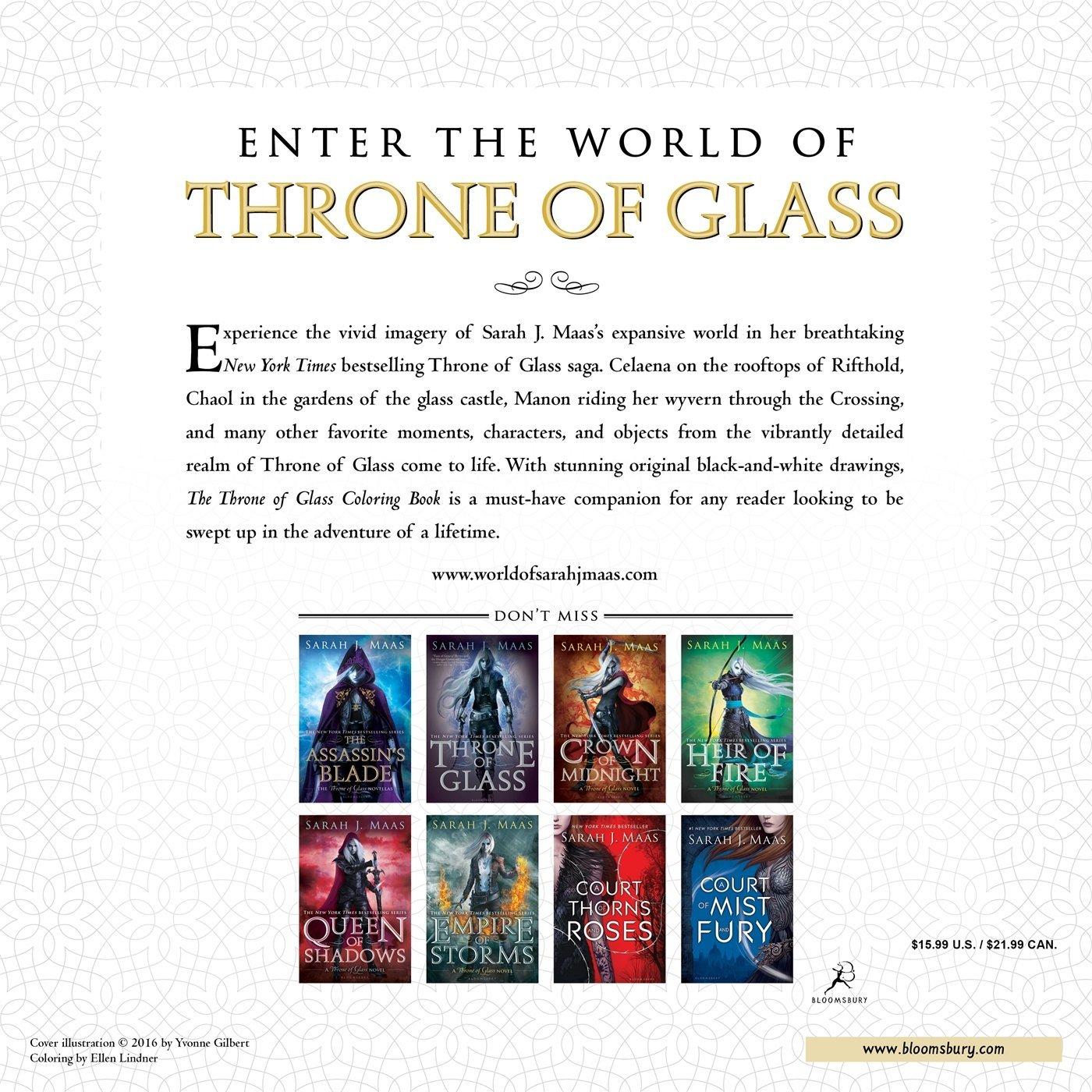 Amazon The Throne Of Glass Coloring Book 9781681193519 Sarah J Maas Yvonne Gilbert John Howe Craig Phillips Books