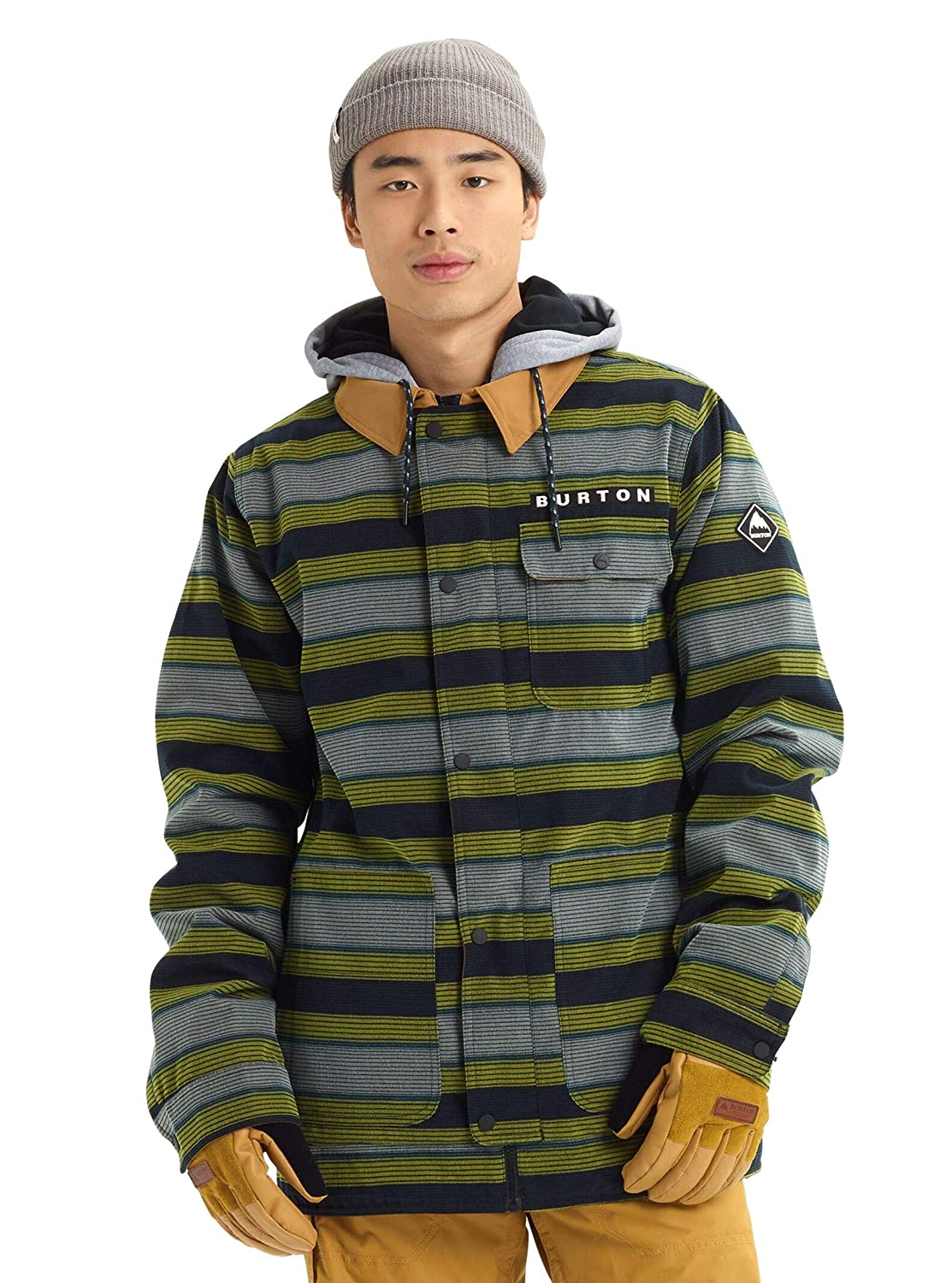 Sap Stripe Large Burton Men's Dunmore Jacket, True Large
